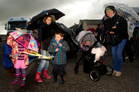 Thurso Gala Strong man - decorated Umbrella and welly boots 17/0
