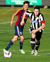 Friendly pre-season match between Wick Academy and Livingstone played at Harmsworth Park home of Highland League team Wick Academy. Sam Mackay