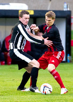 Wick 2 v Inverurie 2  SHFL 23/11/2013<br/>Inverurie's Scott Begg attempts to push away Wick's Gary Manson