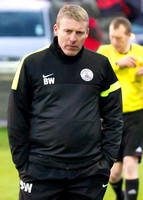 Wick 2 v Inverurie 2  SHFL 23/11/2013<br/>A pensive looking Wick Manager Barry Wilson after Inverurie's first equaliser