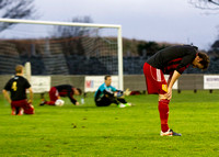 Wick 2 v Inverurie 2  SHFL 23/11/2013<br/>Inverurie players showing their disappointment after losing a second goal